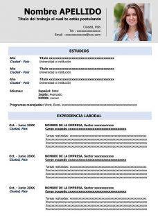 مثال على السيرة الذاتية باللغة الإسبانية